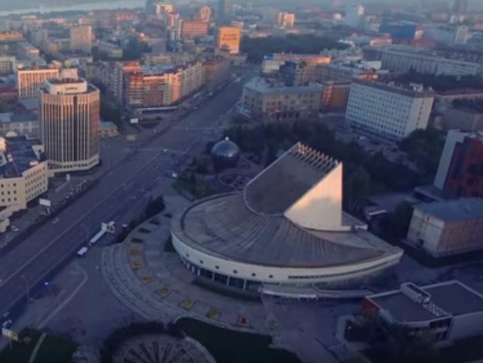 Так выглядит город, снятый на камеру квадрокоптера