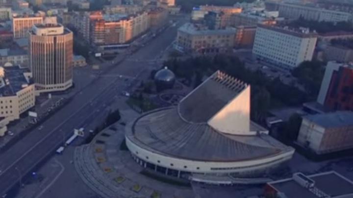 Центр Новосибирска засняли при помощи квадрокоптера