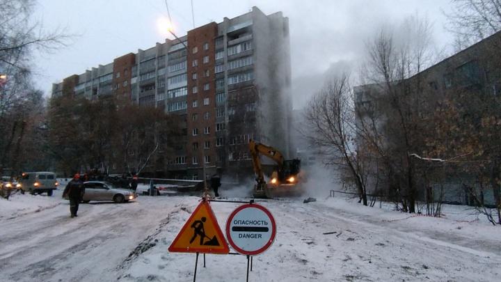 Последствия потопа на Котовского: энергетики раскопали и перекрыли двор