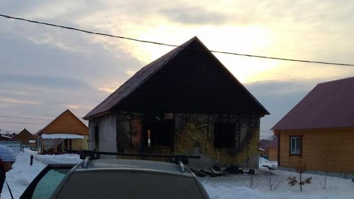 Под Уфой в пожаре погиб трехлетний мальчик