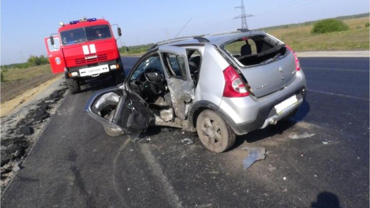 В Щучанском районе столкнулись Audi и Renault: в аварии погиб мужчина