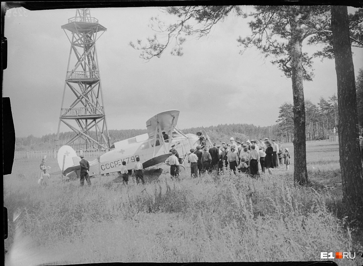 Самолет в Центральном парке культуры и отдыха. 1950 год