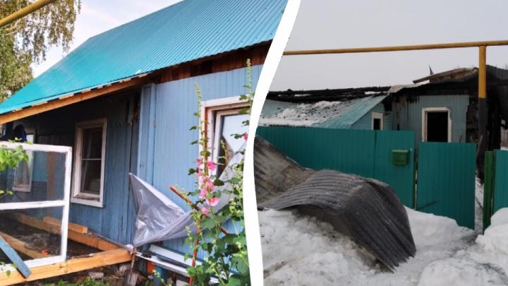 «Огонь никого и ничего не щадит»: в Башкирии семья после пожара осталась без крыши над головой