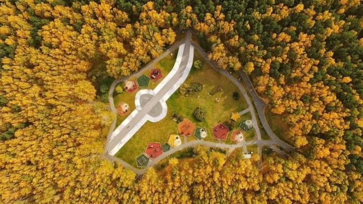 Сентябрь, до свидания: смотрим 10 фото осенних окрестностейТюмени с высоты облаков