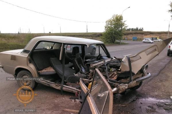 Повреждения, которые получил автомобиль «Жигули»