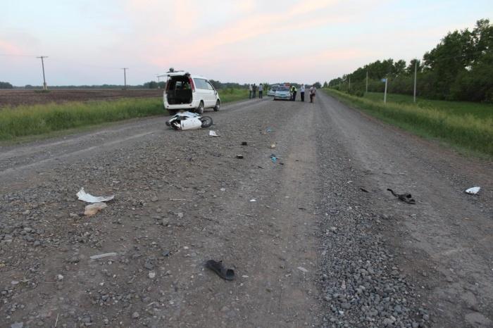 Место аварии вКоченёвском районе