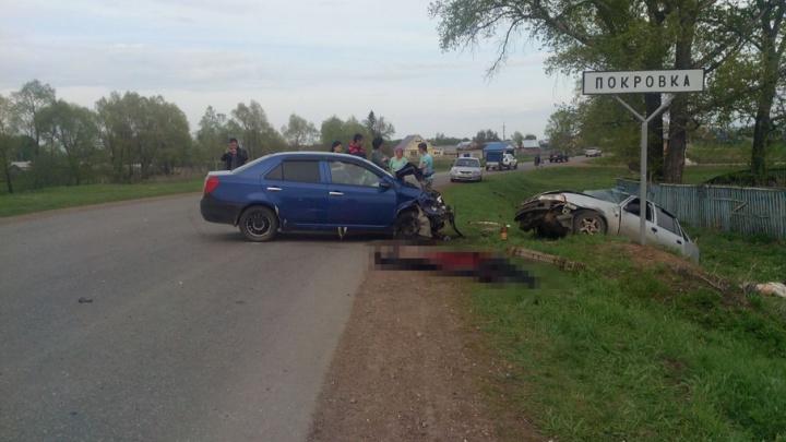 Смертельная авария в Башкирии: две иномарки столкнулись лоб в лоб