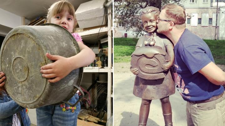 Папина «Конфетка»: омич создаёт скульптуры, вдохновляясь своей дочерью