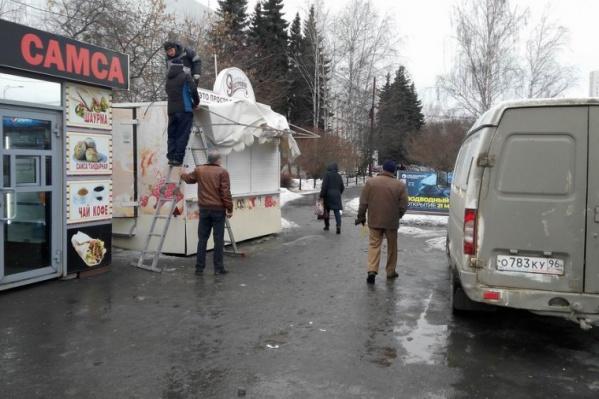 Улицы очистили от незаконных точек общепита и киосков, торговавших фейерверками