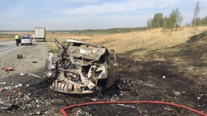 «Lexus выехал на встречку»: четыре человека погибли в лобовом столкновении иномарок под Челябинском