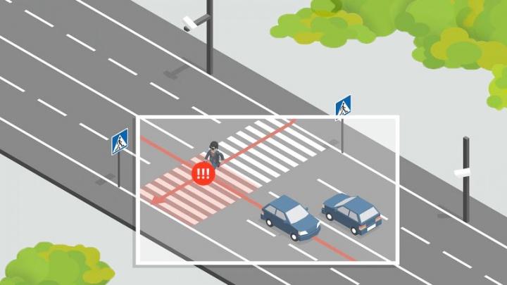 В Екатеринбурге автохамов, которые не пропускают пешеходов, будут штрафовать при помощи умных камер