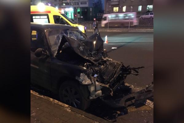 Авария произошла на Московском проспекте в районе пересечения с улицей Гагарина