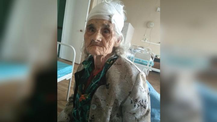 В Уфе разыскивают родственников 90-летней бабушки с травмами головы