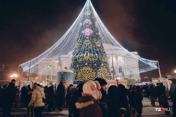 Новая ёлка высотой 28 метров приехала в Тюмень из Москвы во второй половине декабря. Около недели ушло на её сборку и установку