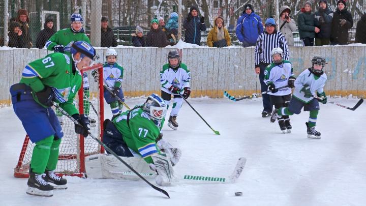 Мы вместе: хоккеисты «Салавата Юлаева» сыграли с командой уфимских пацанов