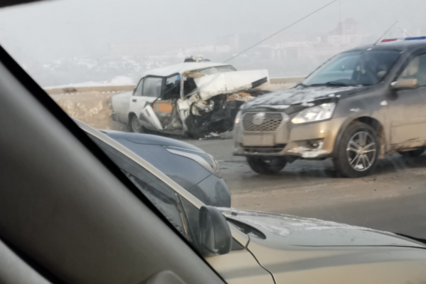 Авария произошла в 9:35 на Димитровском мосту