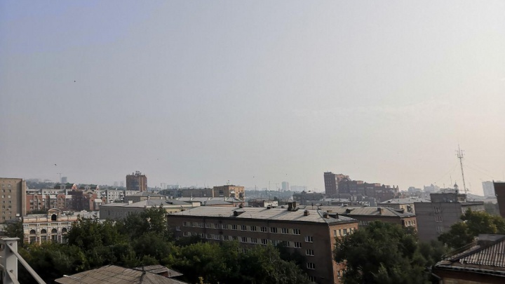 Над Красноярском снова повис смог с едким запахом