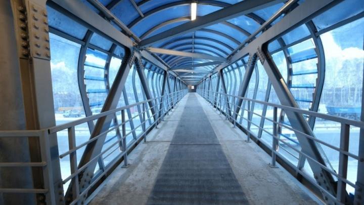 В Уфе достроили 48-метровый переход на дороге к аэропорту