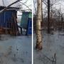 Русло отвели и берега укрепили: районная администрация отреагировала на заледеневшие дворы