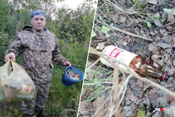 Сергей Канатьев проверил, чего в лесу больше: грибов или мусора