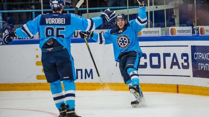 Хоккей:«Сибирь» выиграла у магнитогорского«Металлурга»