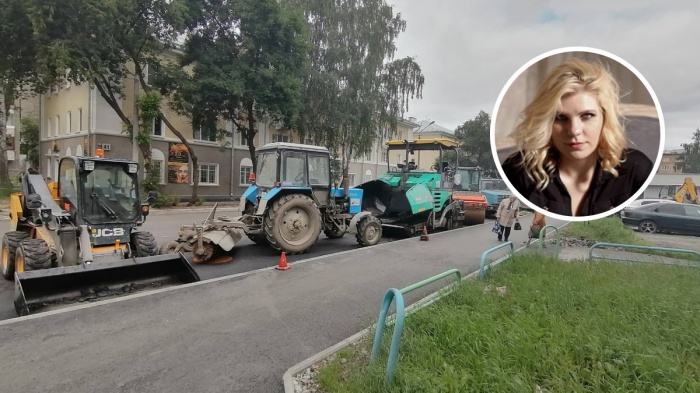 Екатерина Петрова посмотрела, как один из подрядчиков ремонтирует дороги Екатеринбурга