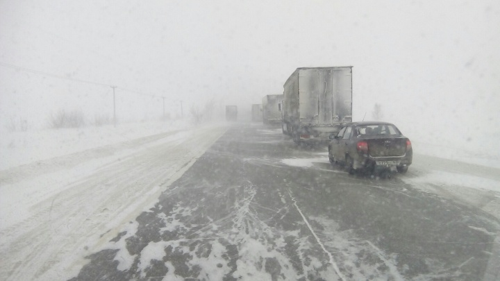 В Самарской области из-за метели перекрыли несколько трасс