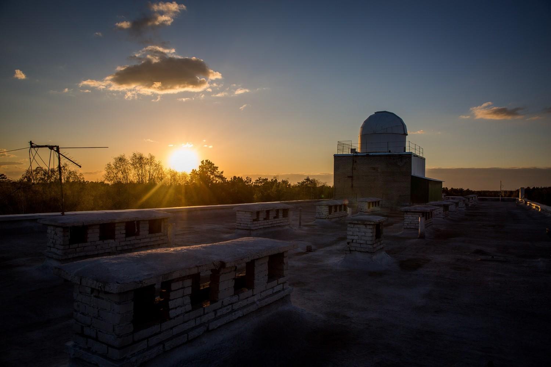 Обсерватория находится на крыше лабораторного корпуса университета