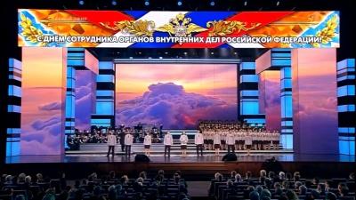 Видео: хор красноярских полицейских выступил в Кремле на одной сцене с Киркоровым и Гагариной