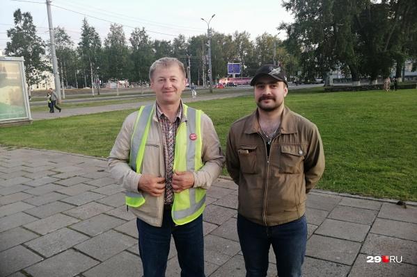 Александр Пушкин (справа) возмутился в комментариях слишком высокими штрафами активистам движения «Поморье — не помойка!»