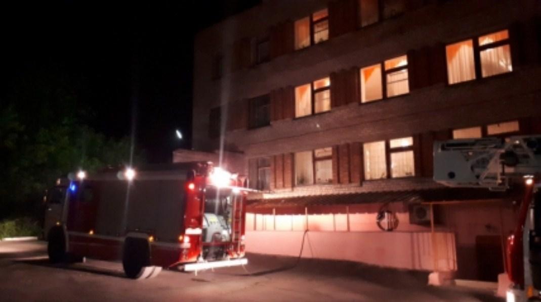Пожар начался ночью, когда многие пациенты уже спали