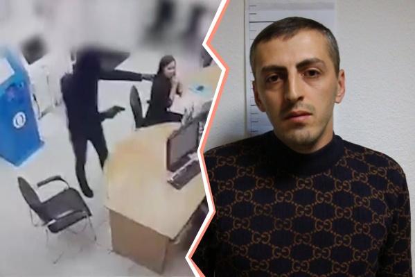 Татоса Колозяна обвиняют в налете на отделение банка, где он под угрозой пистолета похитил деньги