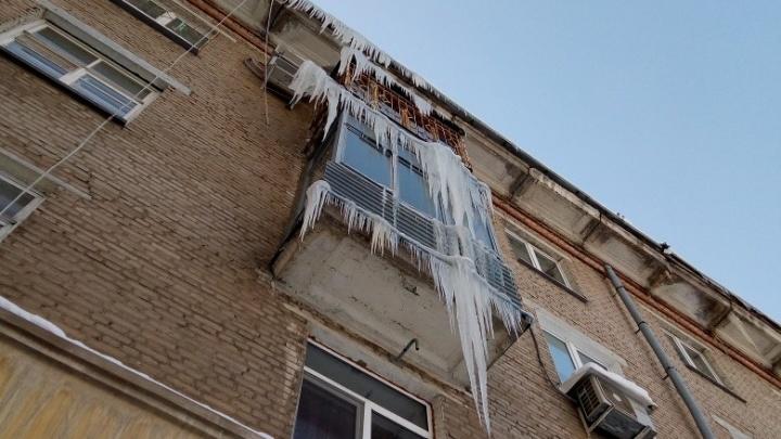 Ледовый рейтинг: самарцы показали самые большие сосульки в городе