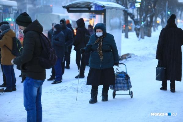 Морозы в Красноярске стояли всю прошлую неделю