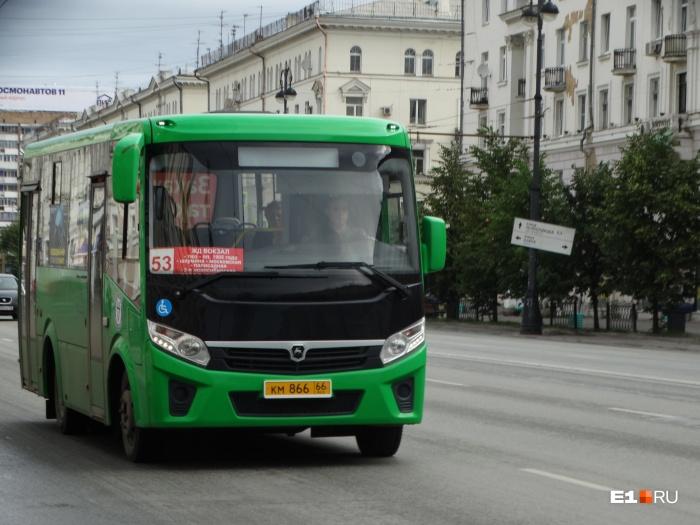 Автобусы №53 ездили от вокзала до микрорайона Солнечного