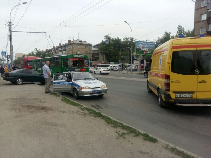 Авария произошла в Заельцовском районе