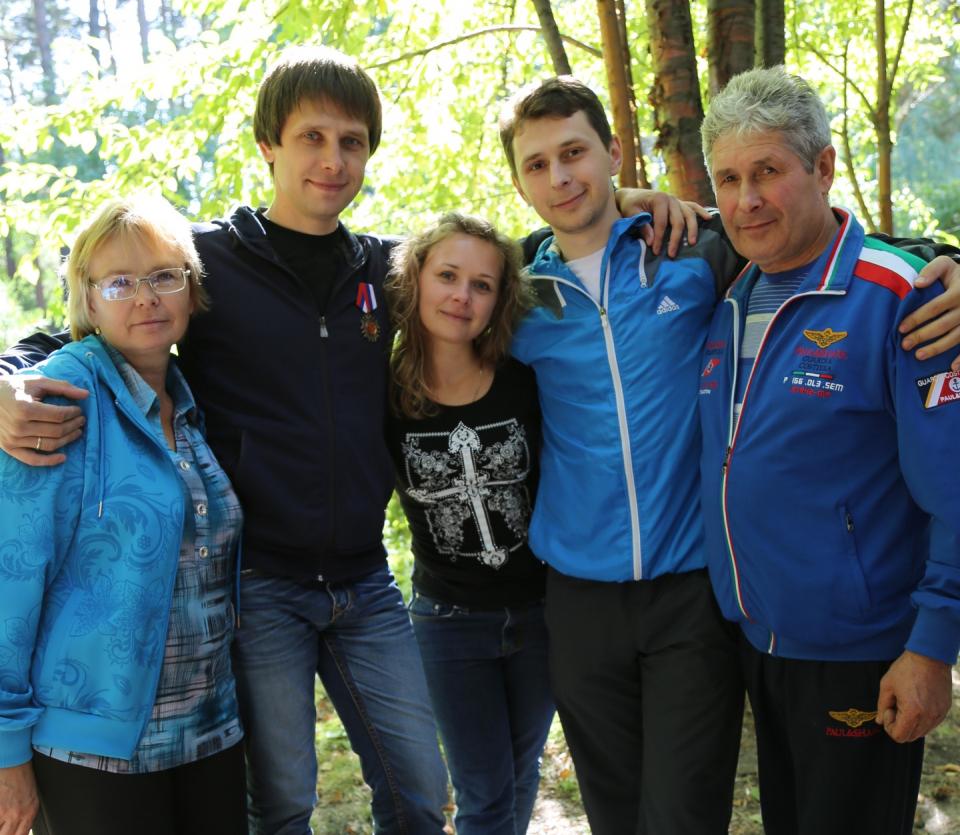 Семья Марущак до болезни Дмитрия