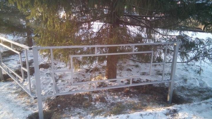 «Чтобы ёлки не нападали»: серые заборы начали устанавливать на Свободном
