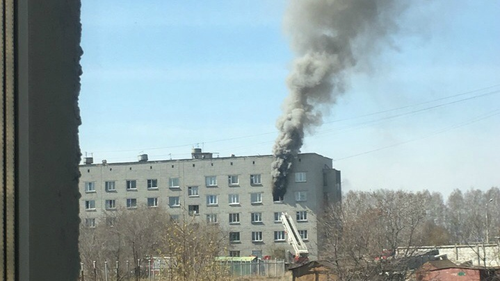 В Кургане на улице Алексеева горела комната в общежитии