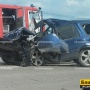 Лобовое столкновение: на трассе в Башкирии столкнулись легковушка и внедорожник