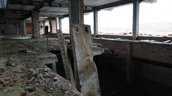 В зданииаэропорта Омск-Фёдоровка обрушились несущие плиты