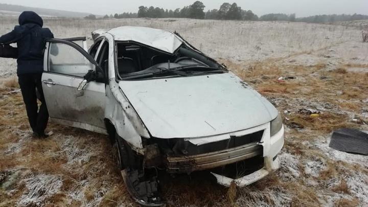 В Башкирии водитель на «Лифане» взял трех попутчиков и попал в смертельное ДТП