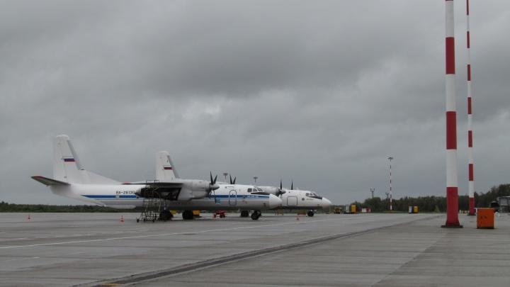 Аэропорт Архангельск работает в штатном режиме, несмотря на жуткий ветер