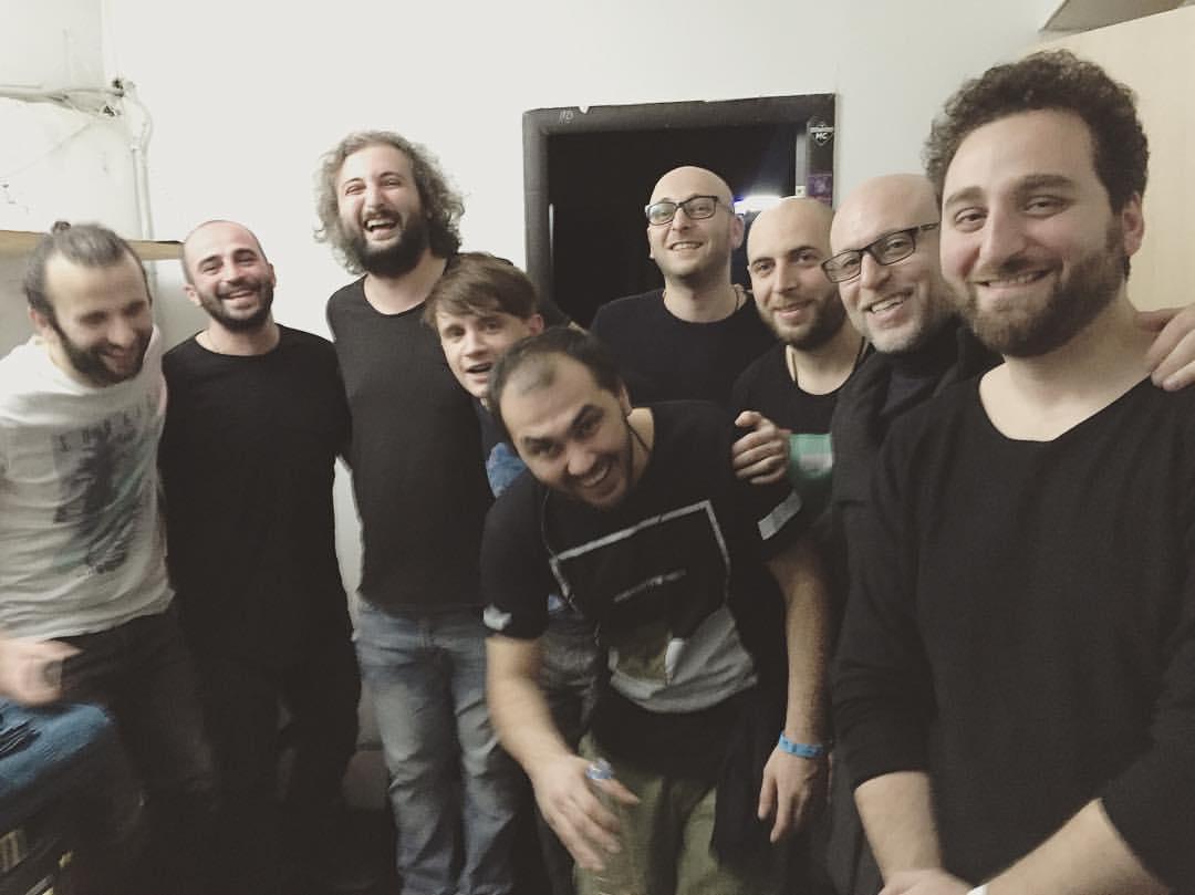 Александр Гагарин с музыкантами из «Мгзавреби» в Екатеринбурге