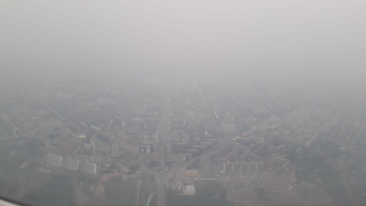 Смог и дым от лесных пожаров всё ещё держатся над Новосибирском