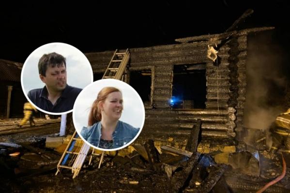 Мужа и жену из объятого пламенем дома вытащили соседи