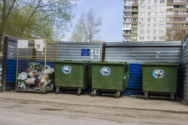 Во многих дворах Новосибирска тоже установлены контейнеры для раздельного сбора мусора: большие металлические для стекла и сетчатые для пластика