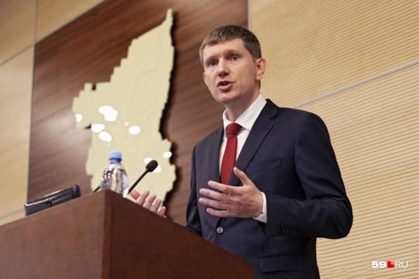 Максим Решетников возглавлял Пермский край три года