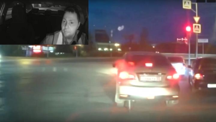 Омские полицейские устроили ночью погоню со стрельбой