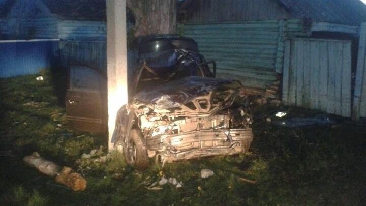 В Башкирии Hyundai Accent въехал в столб: есть погибший